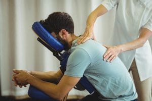 Massage therapy program during rehab.